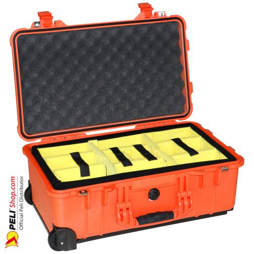 1510 Valise Carry On Orange avec Compartiments