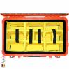 1510 Valise Carry On Orange avec Compartiments 5
