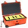 1510 Valise Carry On Orange avec Compartiments